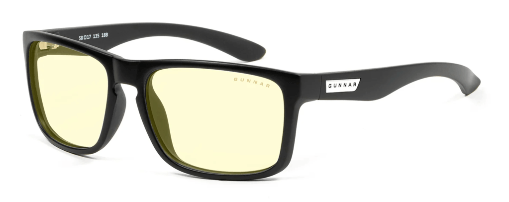Product photo of the Gunnar Optiks Intercept, often considered one of the best gaming glasses on the market.