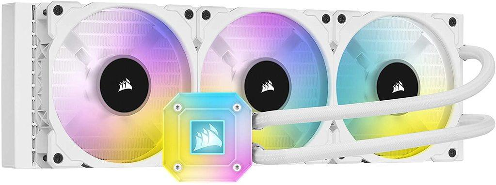 Product image of an AIO cooler from Corsair.