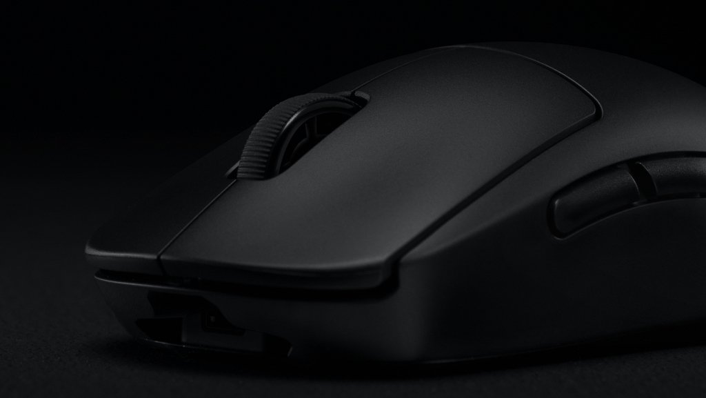 Side-view of the Logitech G Pro Wireless, that might the best left-handed gaming mouse for many competitive gamers.