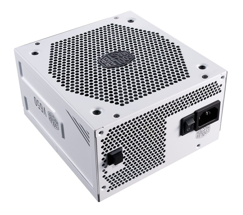 Picture of a Cooler Master V650 power supply unit, useful for juicing up all your other gaming PC components.