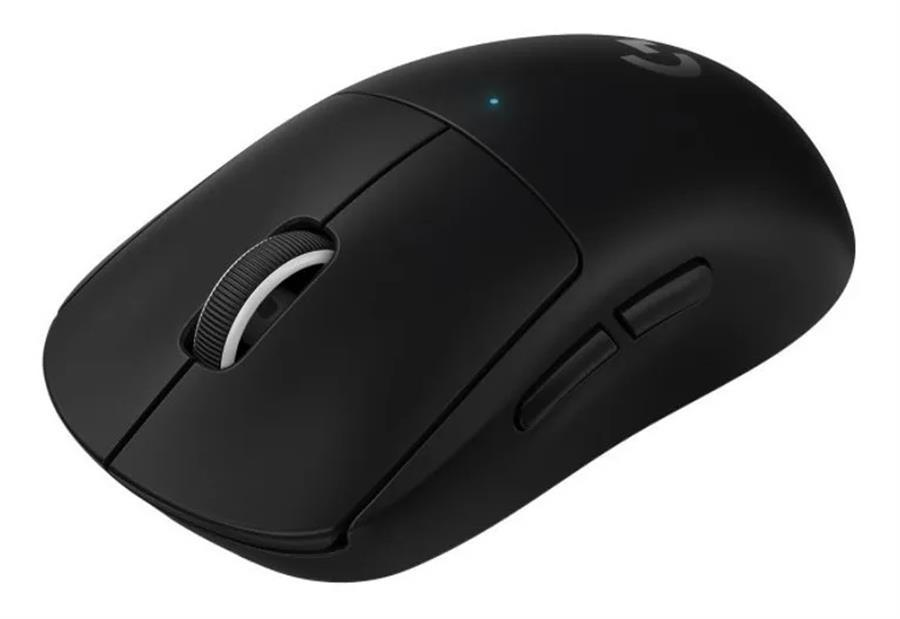 The Logitech G Wireless Pro mouse, pictured in black.