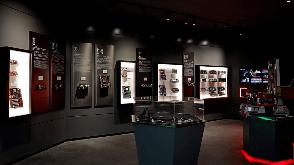 Promotional photo of an exhibit at Colorful's GPU History Museum.
