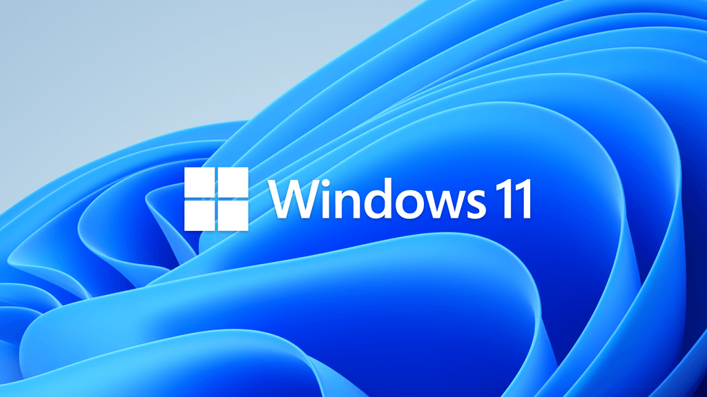 Official logo of Windows 11, displayed on the default background of the operating system.